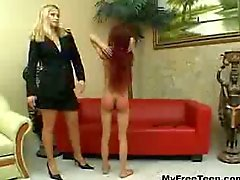 Educating Renata ass spanking