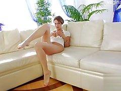 Nice student striptease