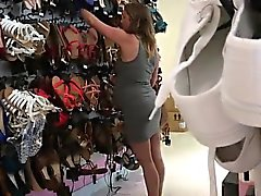 Old expectant Nicole searching for shoes