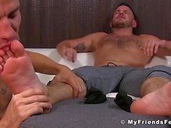 Jock Liebe senstation seiner Füße leckte