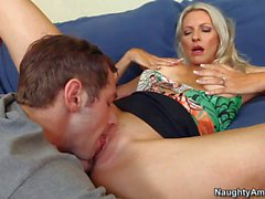 Blonde Emma gets her pussy licked by Joey