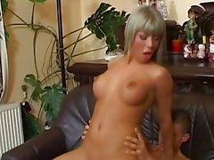 Sandra Parker gets fucked and sprayed with a hot sperm
