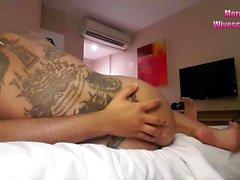 Thai threesome hidden cam