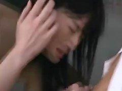 Busty Japanese teacher gets treated like a slut by a gang o