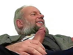 Grandpa fucking and pissing on sexy girl