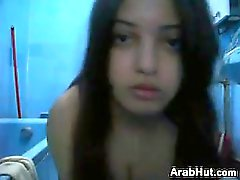 Cute Arab Girl Teasing Her Body At Home