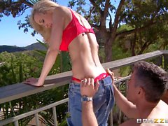 Outdoor sex with hot MILF blonde Brandi Love
