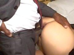 black bbc boss anal fucked blonde babe