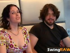 Unforgettable swinger party with hot interracial sex action