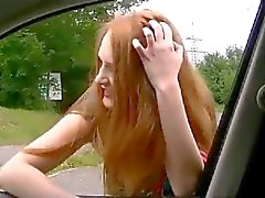 Street Hooker Giving A Blowjon in the Car