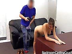 Hard ass fucking and big cum facial casting