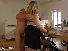 2 french nasty and pretty cousins compete for a lad