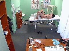 Doctor examines big beasts