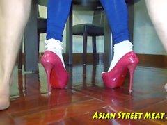 Голубое пупсик дыша в Бангкоке бибо