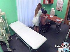 Nurse riding big cock in hospital