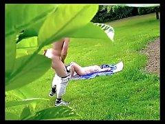 Dickflash - Jerk for nude sunbathing MILF