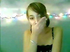 Menina quente na webcam