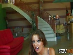 Big Tit Brunette Vanessa Lane Gives a Handjob