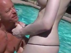 Incredibly feminine TS gets laid poolside
