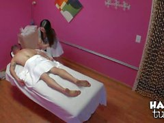 Mika Sparx gives asian cock massage
