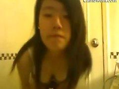 Hairy Asian Amateur Teen Striptease