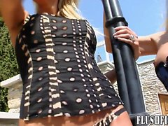 Stunning girls love to play with each other and fist