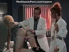 Леена , Азия Каррера , Том Байрон в винтажном секс фильм