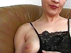 Amateur mom gangbang with many cocks and facials