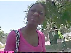 Street pickup skinny black girl fodido por chris charme