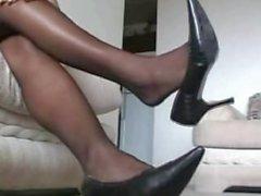 Dionne's Pantyhose Shoeplay