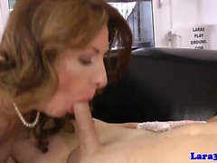 English cougar doggystyled after cocksucking