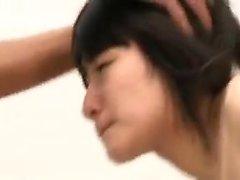 Slutty Oriental babe welcomes a throbbing shaft deep down h