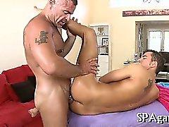 Bewitching anal massage