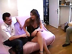 Naughty french swinger wife