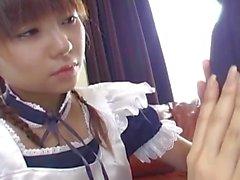 De Natsumi doncella asiático en cosplay de da a asombrosa Breakfast