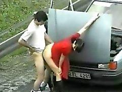 Openbare seks met prostituee