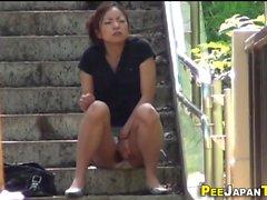Japanese slut pee panties