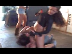 Brutal Beaten kick trampling fight
