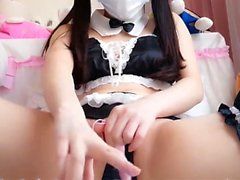 Chinese Schoolgirl Striptease and Masturbates - Passion-Cams