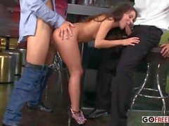 European teen Anita Bellini getting double penetration