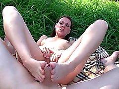 Outdoor Footjob