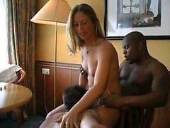 Interracial gangbang with DAP and DVP for blonde