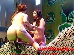 Pamela Sanchez y Brenda Boop lesbian show in SEM