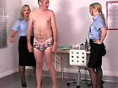 I uniform femdoms assfinger sissyboy