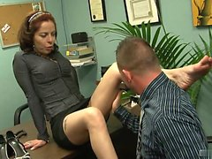Hot secretary is office slut