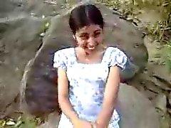 Sri lankische Mädchen Geben Oral