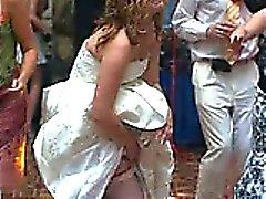 Quente noivas Verdadeiras Upskirts !