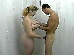 Dusch med mitt fett BBW fd flickvän , avsugning och jävla