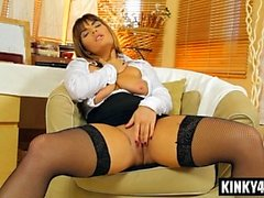 Hot mistress sex with cumshot