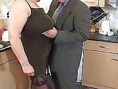 Monstrous boobies blonde granny still fucking hard at 50
